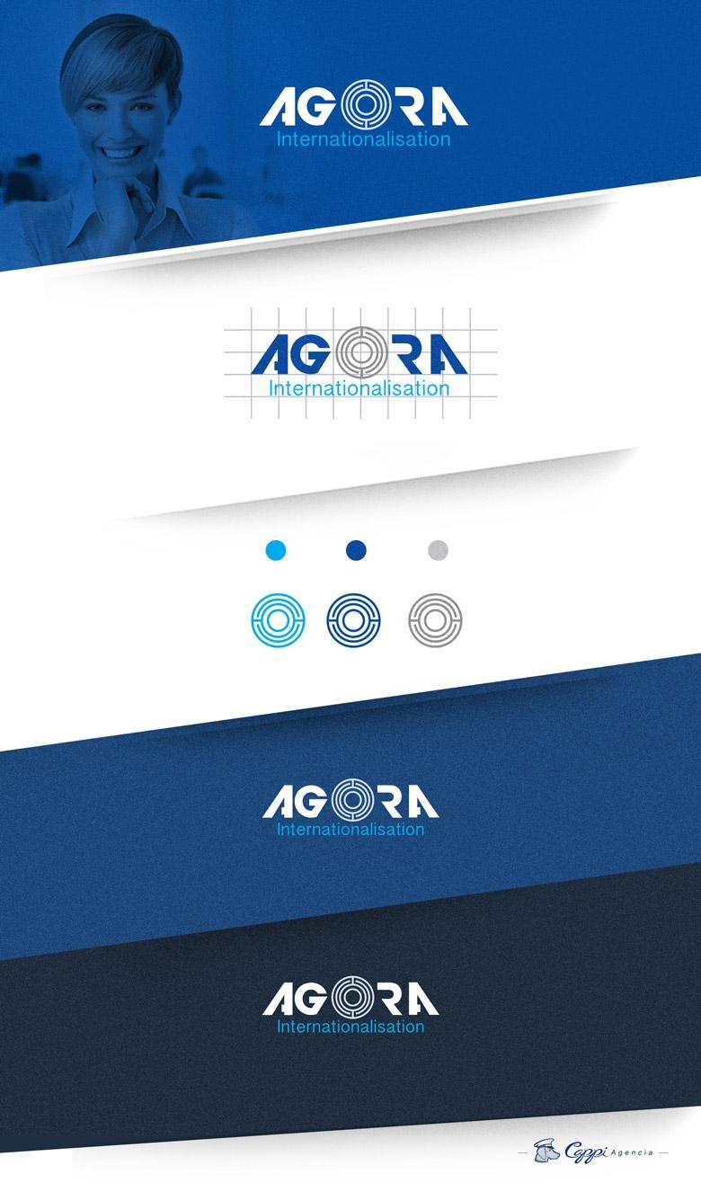 Logo corporativo agora internationalisation